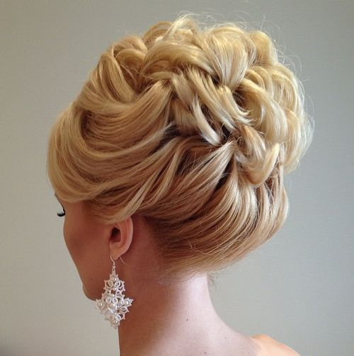 40 chic wedding hair updos for elegant brides curly bridal updo for shorter hair junglespirit Choice Image