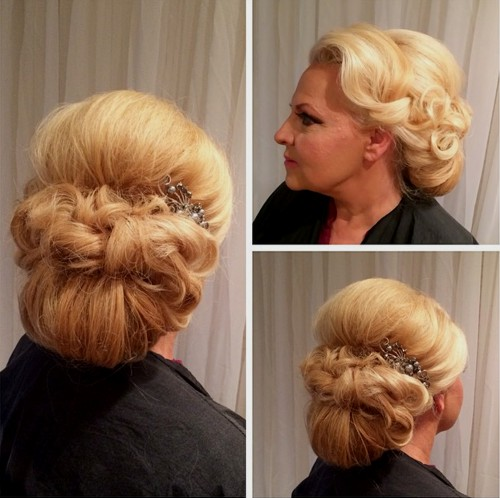 40 ravishing mother of the bride hairstyles formal low chignon with a bouffant pmusecretfo Images