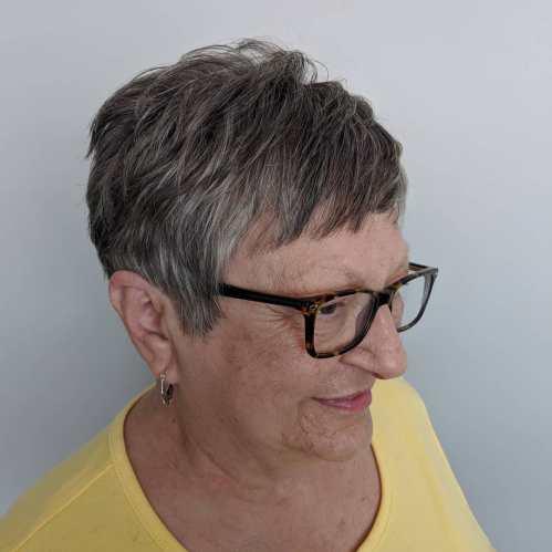 Short Layered Haircut for Older Women