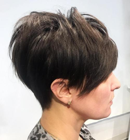 Women's Brunette Taper Cut