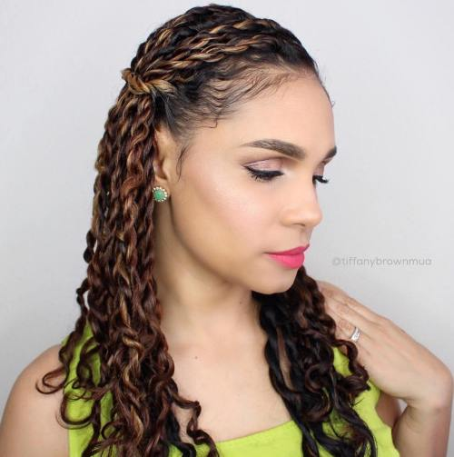 Brown Balayage Twists