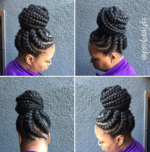 thick braids black hairstyle