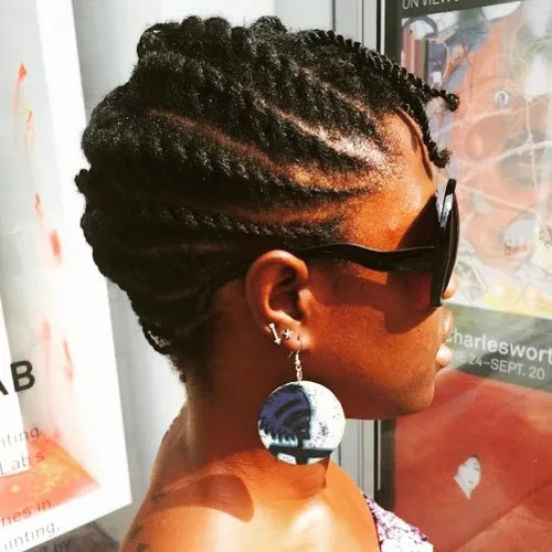 Astounding 40 Chic Twist Hairstyles For Natural Hair Hairstyles For Women Draintrainus