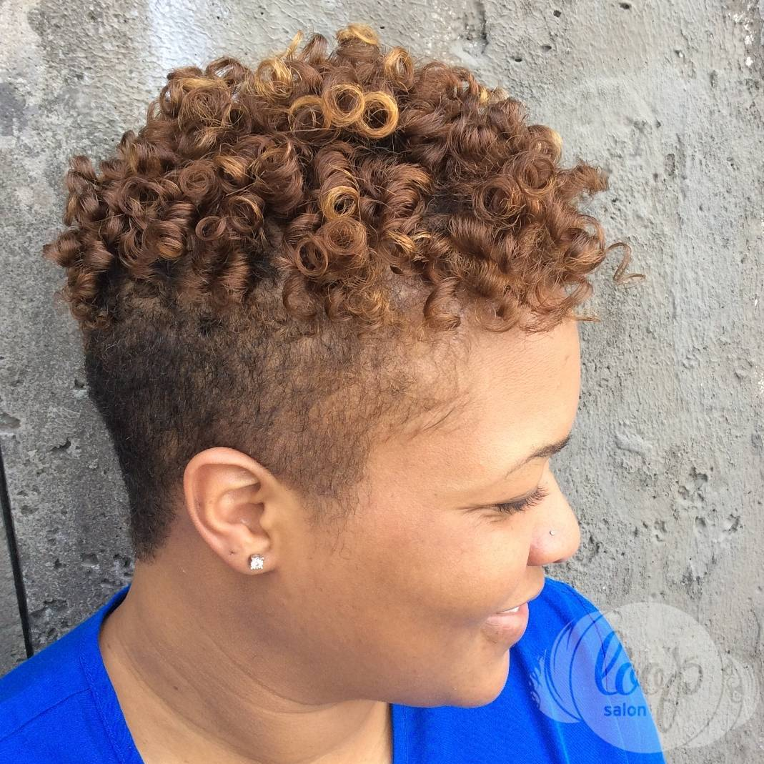 Women's Short Curly Undercut Hairstyle