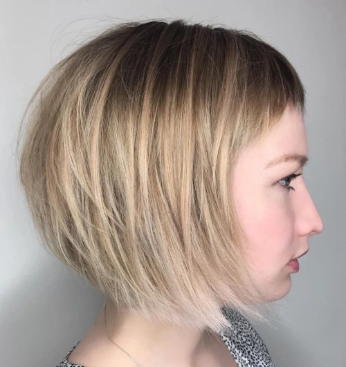 Finely Chopped Bob With Cropped Bangs