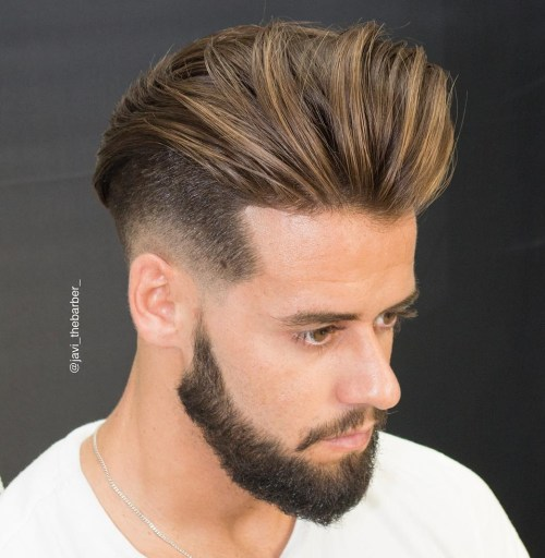 Undercut With Long Hair And Beard