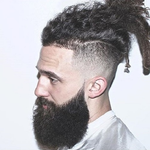 long top, beard and short sides hairstyle