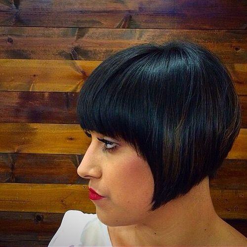 50 classy short bob haircuts and hairstyles with bangs short vintage bob hairstyle with bangs urmus Image collections