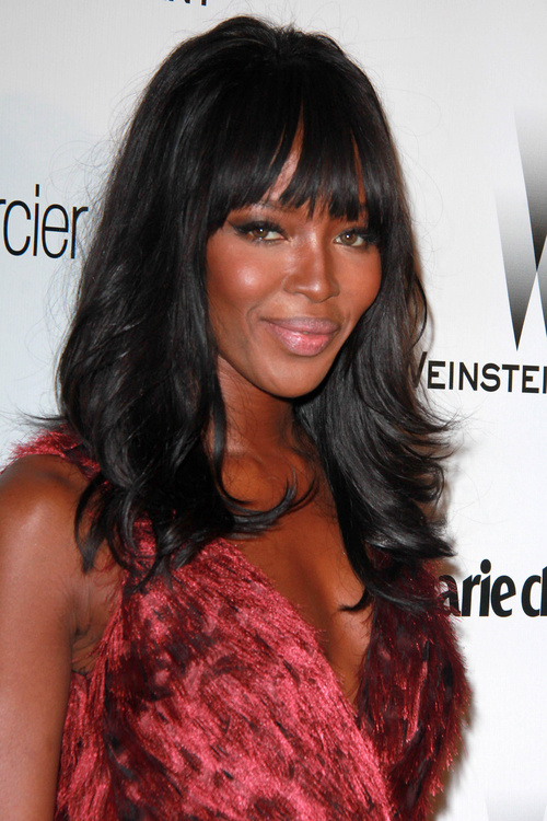 Naomi Campbell Hair Bangs 25 Best Fringe Hairsty...