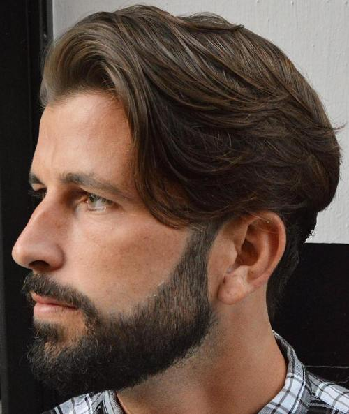 Medium Tapered Haircut With Beard