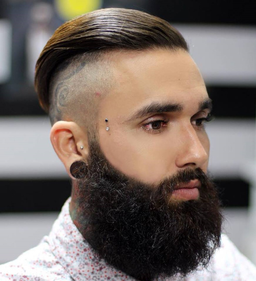 Ritzy Shaved Sides Hairstyles And Haircuts For Men - Long hairstyle for bald head