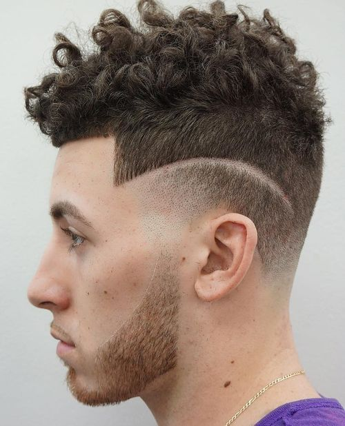 Menu0027s Curly Top Hairstyle With Short Sides