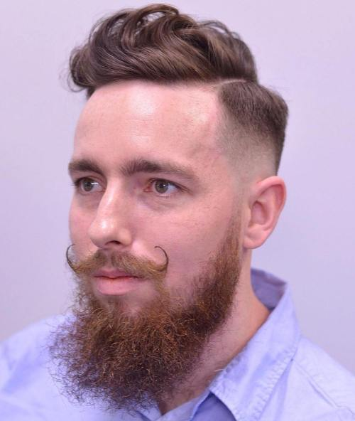 Hipster Combover With Facial Hairstyle