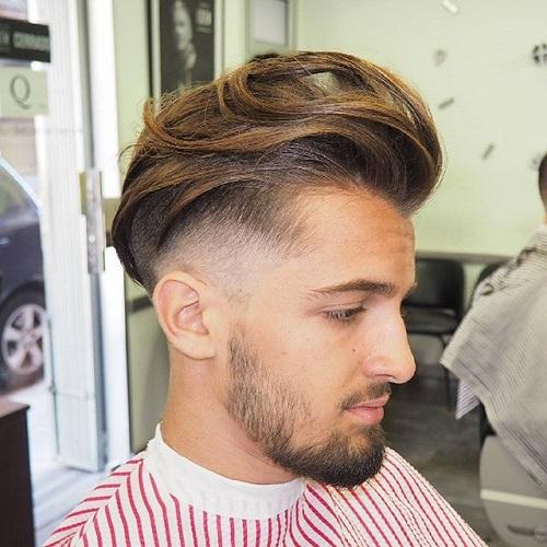 long top short sides men\u0027s hairstyle