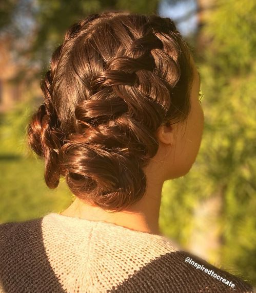 Low Pigtail Buns Hairstyle