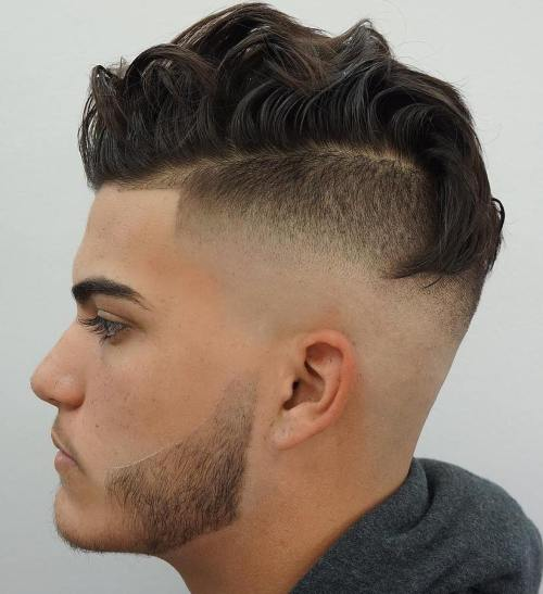 Skin Fade With Wavy Top
