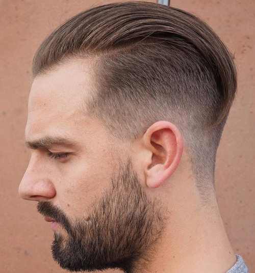 slicked back undercut hairstyle