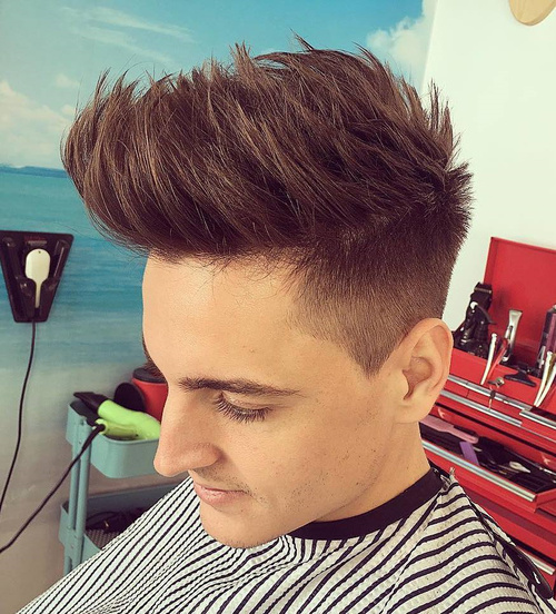 upswept undercut hairstyle