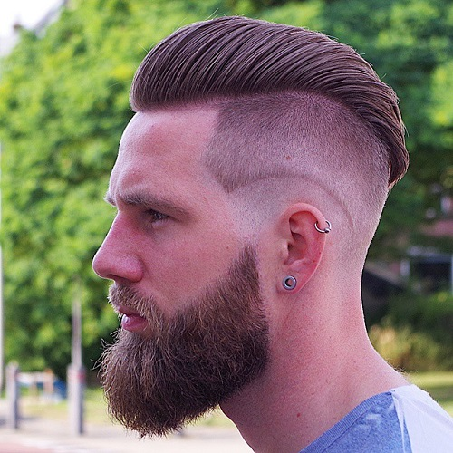 1 Double Layer Undercut Lumbersexual Hairstyle