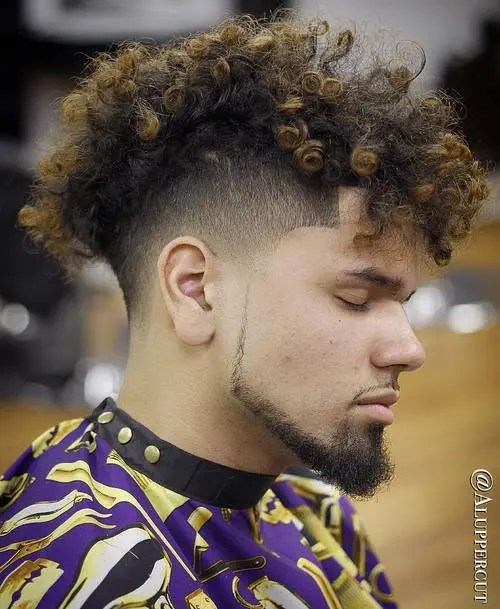 men's curly undercut haircut