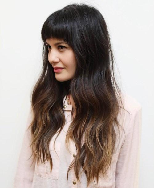 50 Cute Long Layered Haircuts With Bangs 2018