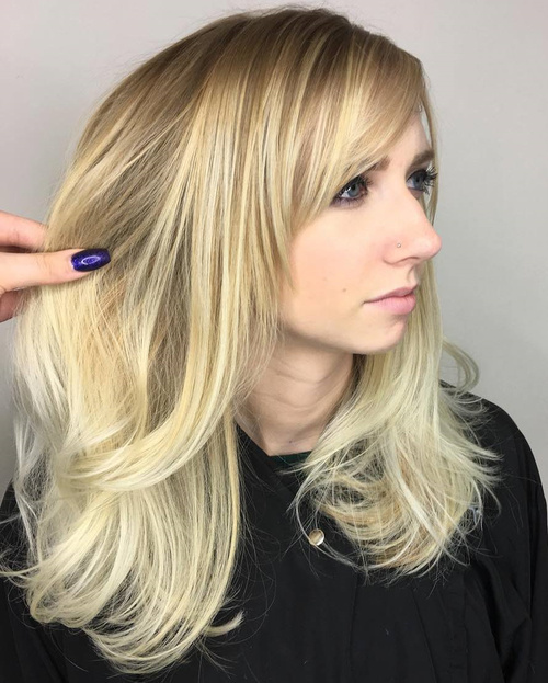 Cute haircuts for long hair with side bangs and layers