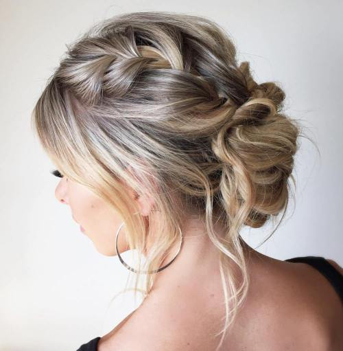quick and easy updos long