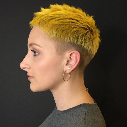 Funky Yellow Undercut Hairstyle