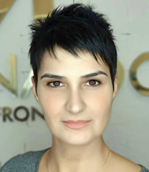 Modern Razored Short Pixie Haircut