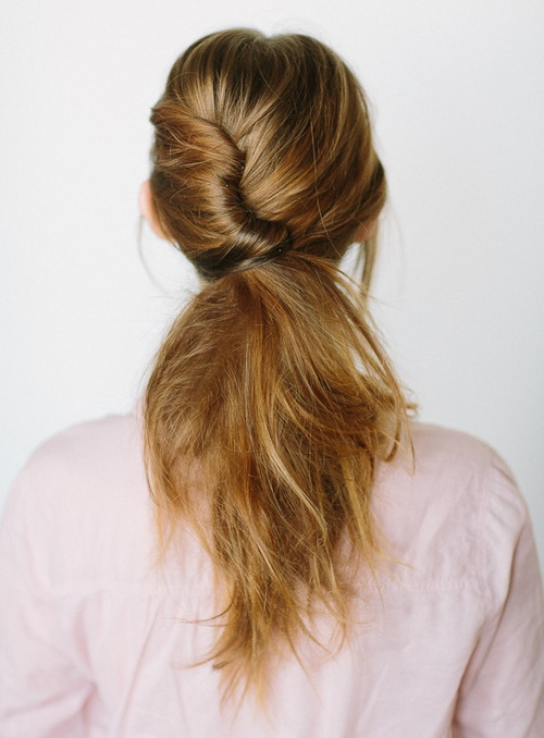 quick french roll updo with a pony