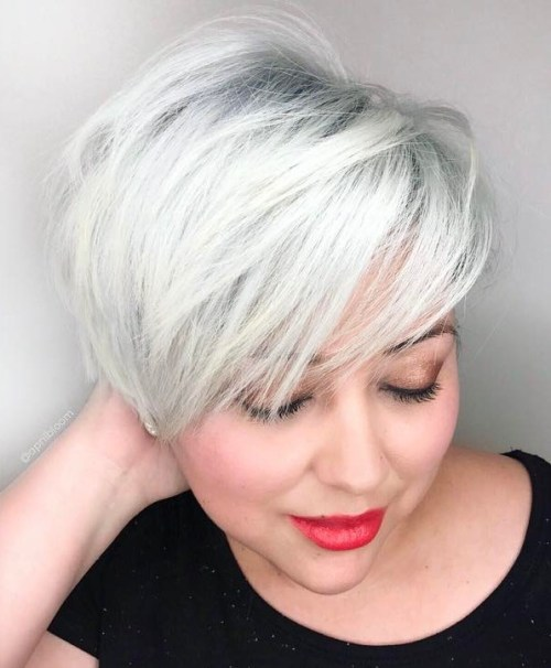 Silver Pixie With A Feathered Fringe