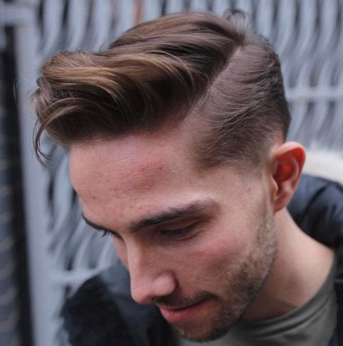 Side Part Taper With Long Top