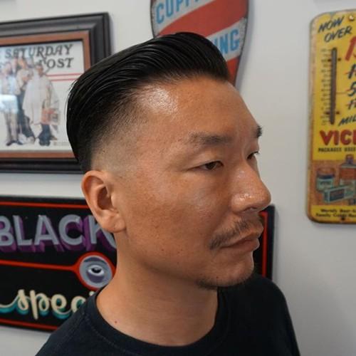 fade haircut for Asian men