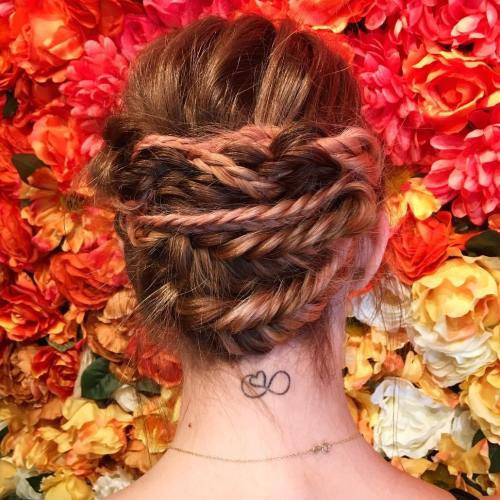 Snake Braid Updo For Long Hair