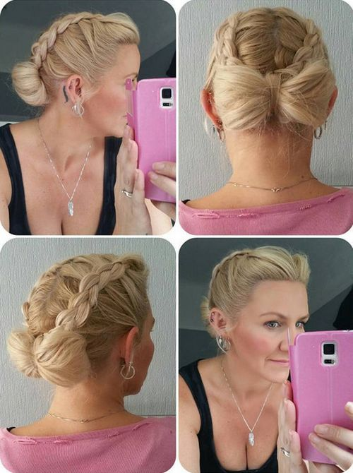 braids and bow updo