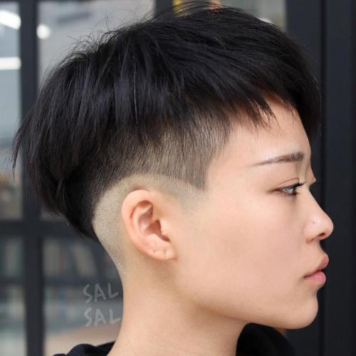 Choppy Bowl Cut With Undercut