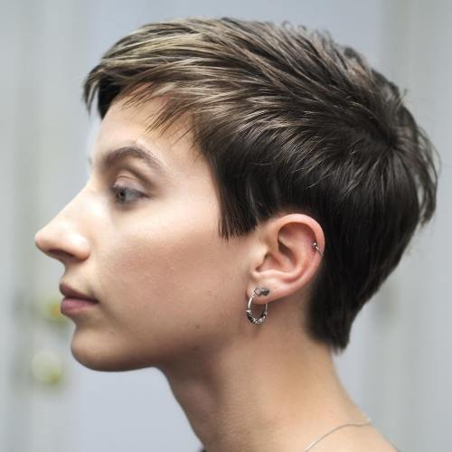 Short Boyish Haircut For Straight Hair