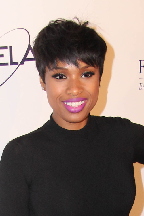 black short pixie haircut