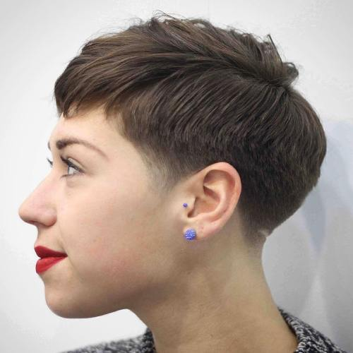 Tapered Haircut For Women