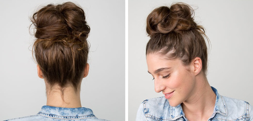 Lovely Easy Messy Bun Updo For Long Hair