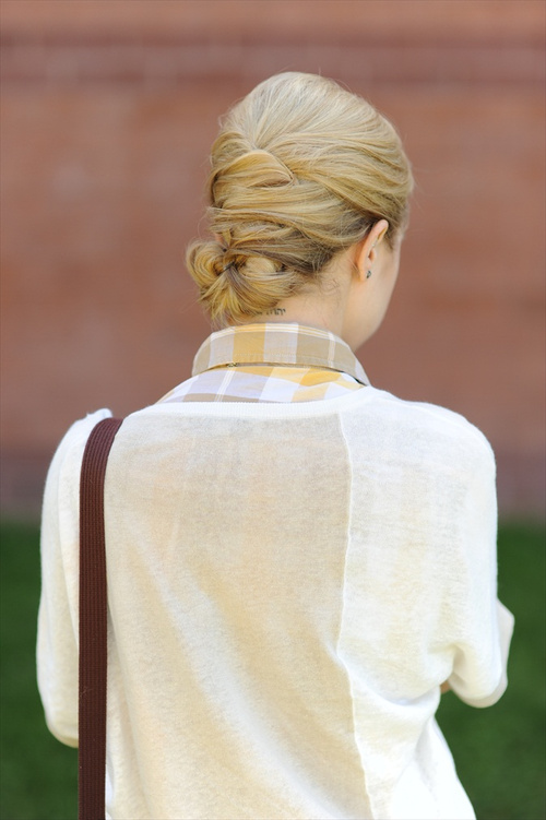 cute casual bun updo