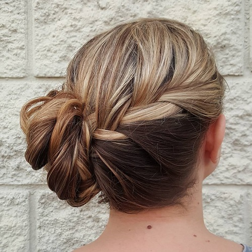Braid And Twisted Side Bun
