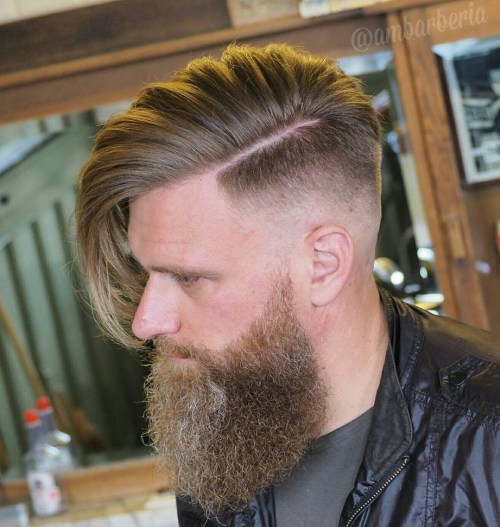 Long Top Fade With Full Beard