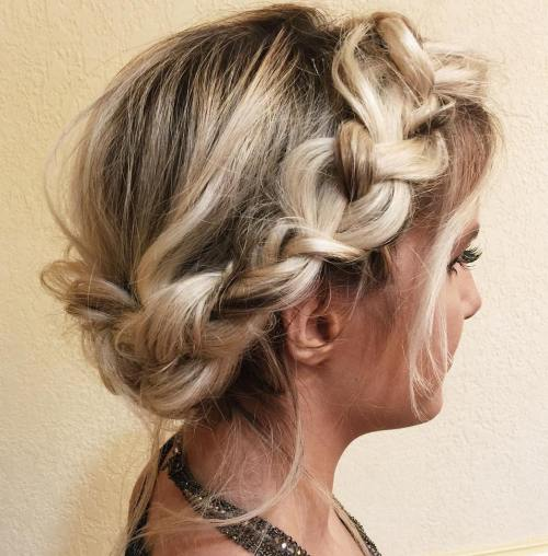 Messy Headband Braid Updo