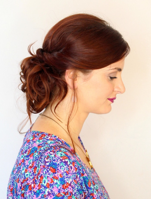 Easy curly updo for long hair