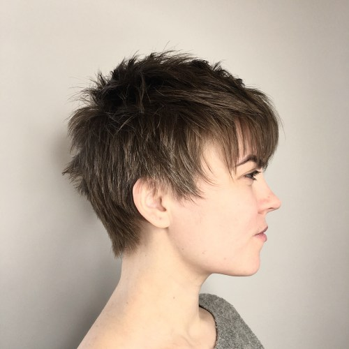 Choppy Pixie Cut With Straight Bangs