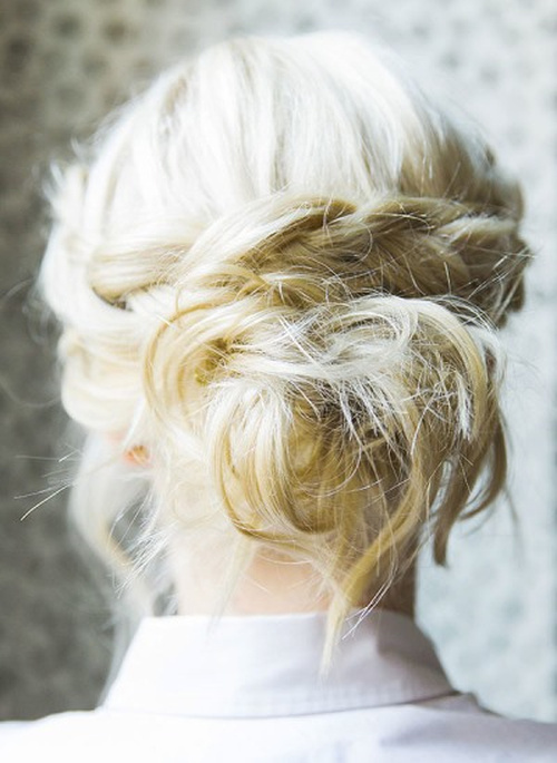 easy updo with a crown braid for long hair
