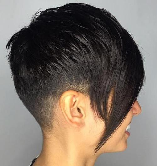 Tapered Pixie With Long Side Bangs