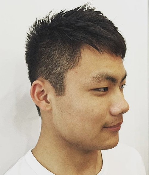 Asian men spiky haircut