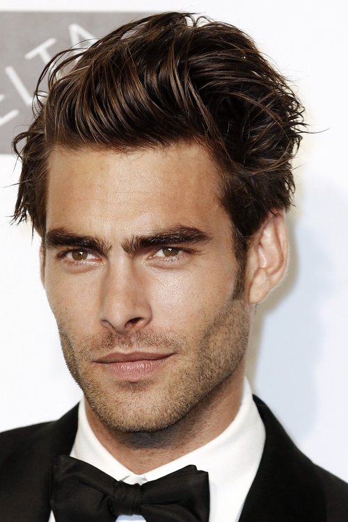 elongated side-parted men's hairstyle